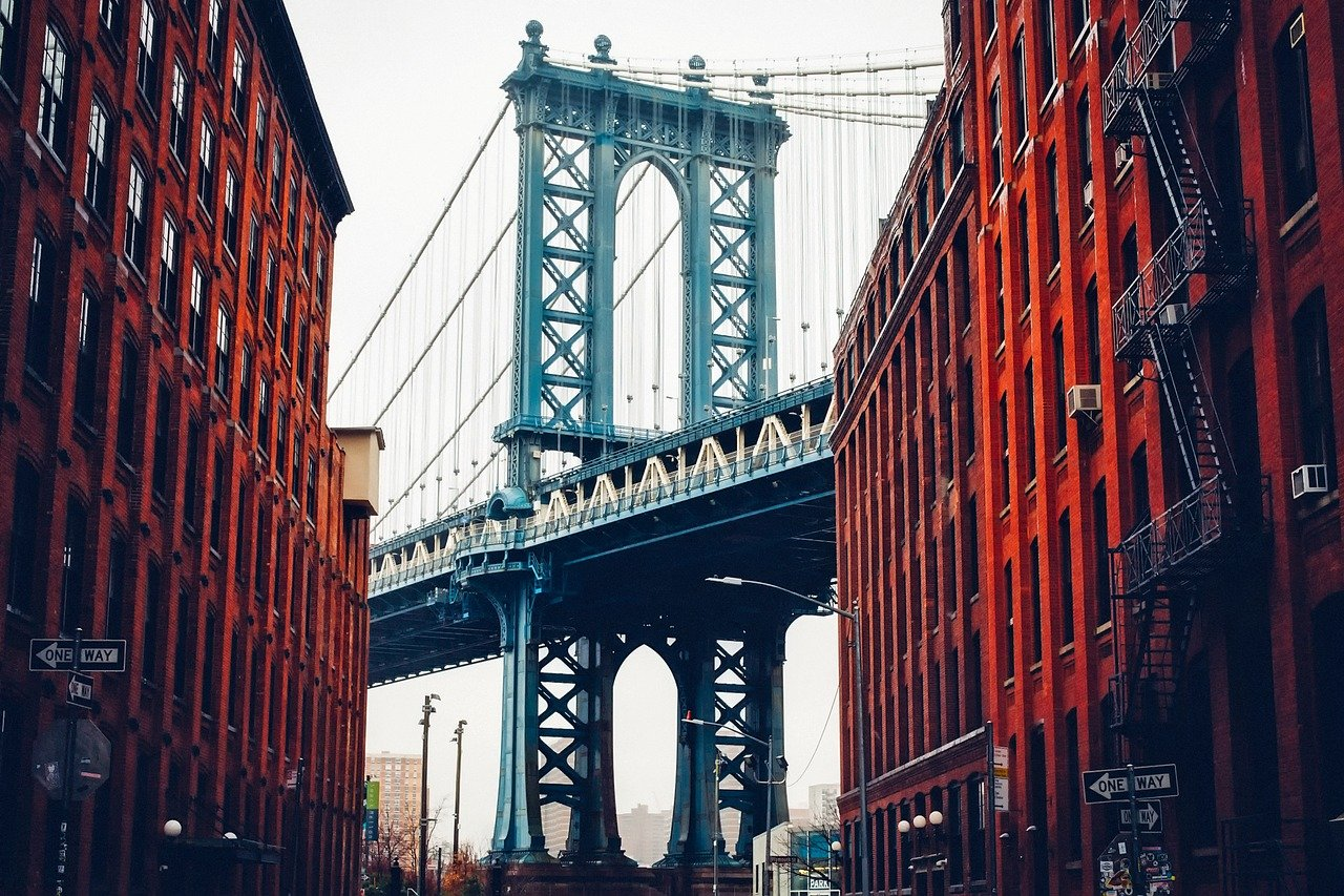 george washington bridge, new york city, buildings